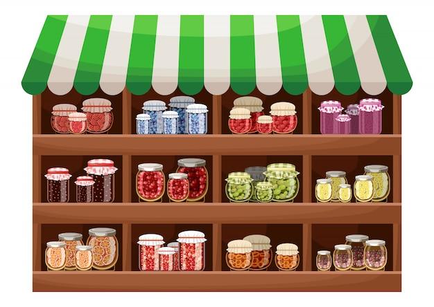 Tienda de mermelada de bayas