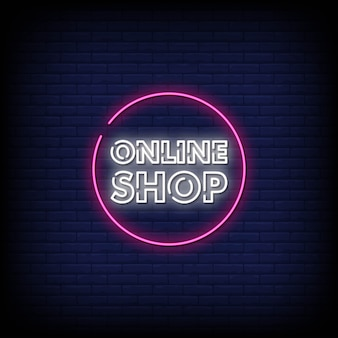 Tienda online letreros de neón estilo texto