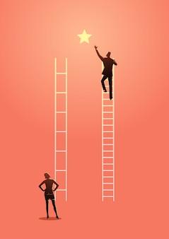 Tienes que trabajar más duro que los demás.