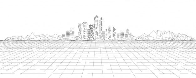 Tierra cibernética en realidad virtual