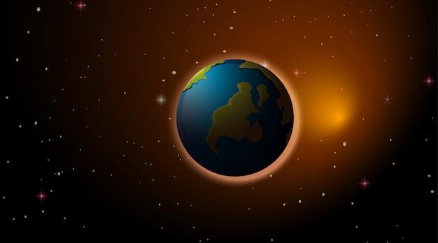 Tierra en el espacio