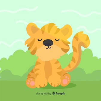 Tigre adorable