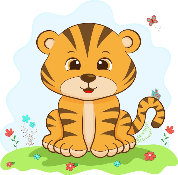 Tigre bebé lindo