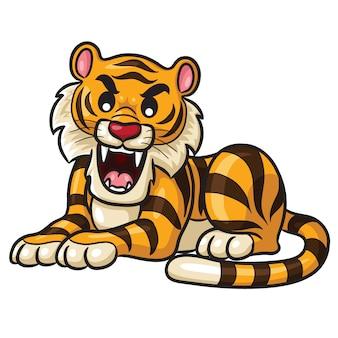 Tigre de dibujos animados lindo