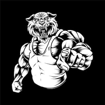 Tigre fuerte
