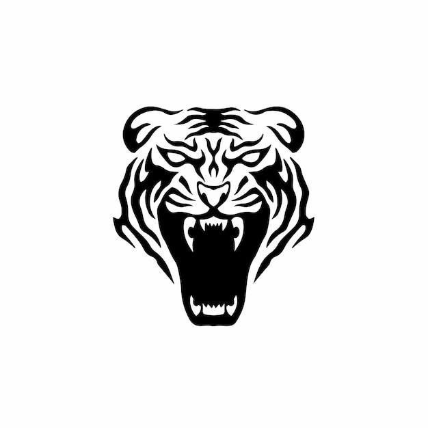 Tigre símbolo logotipo plantilla diseño tatuaje tribal ilustración vector plantilla