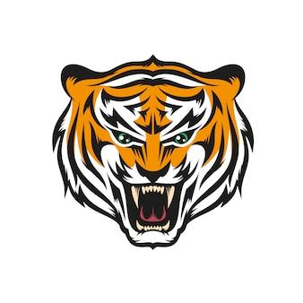 Tigre con sonrisa