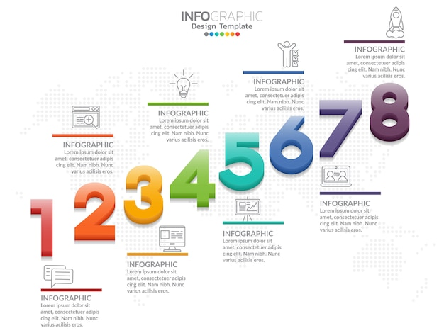 Timeline infografía diseño vectorial e iconos de marketing