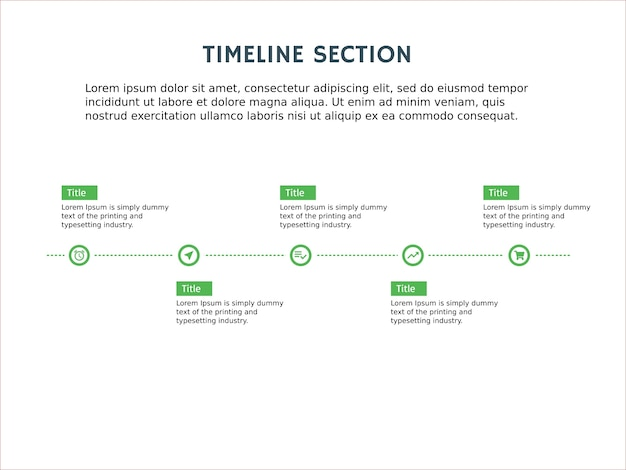 Timeline infographic element and presentation template