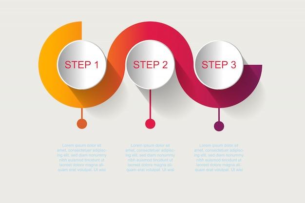 Timeline infographics diseño vector e iconos de marketing