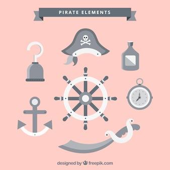 Timón con elementos de pirata