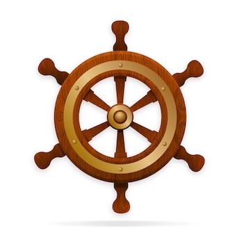 El timón es el volante de la nave.