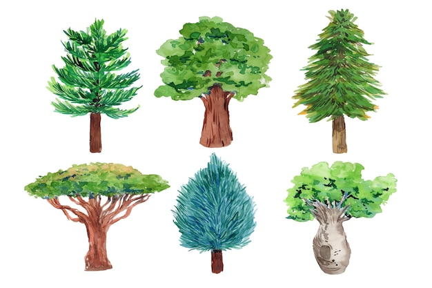 Tipo de acuarela de árboles