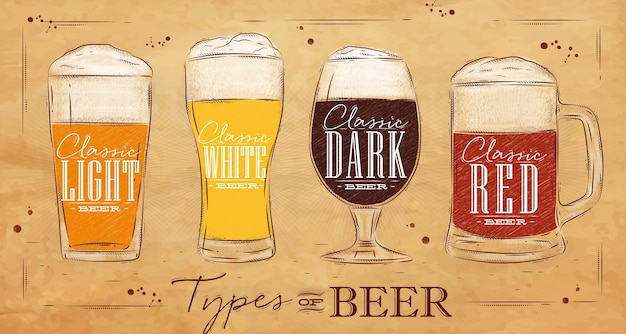 Tipo de cartel cerveza kraft