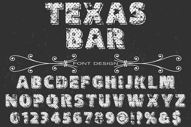 Tipo de letra de la barra de texas