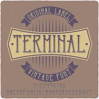 Tipo de letra de terminal