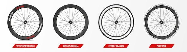 Tipo de neumático de bicicleta neumático de montaña street kid classic