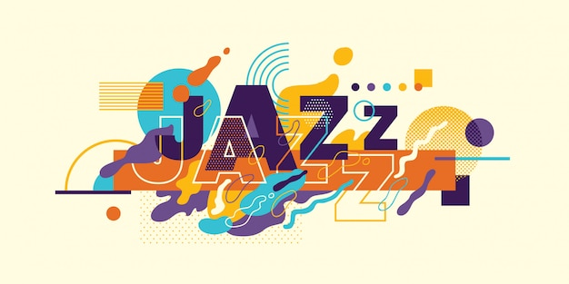 Tipografía abstracta de jazz.