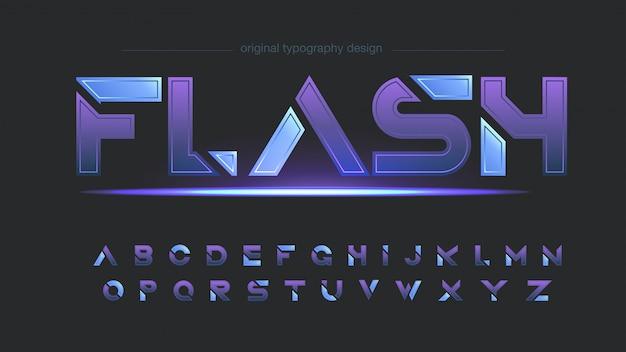 Tipografía abstracta de tonos morados