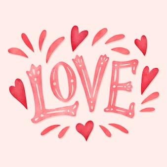 Tipografía de amor en estilo vintage