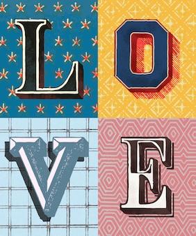 Tipografia de amor