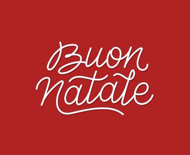 Tipografía de arte de línea caligráfica buon natale