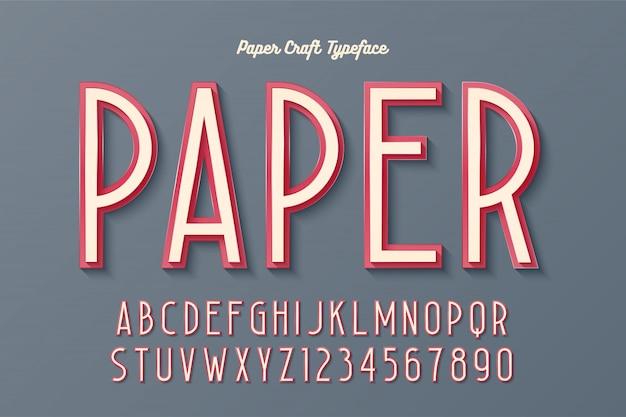 Tipografía artesanal de papel vintage decorativo, fuente, tipografía