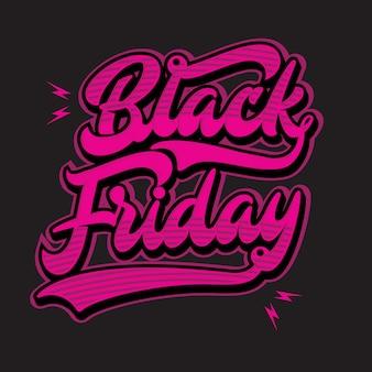 Tipografía black friday
