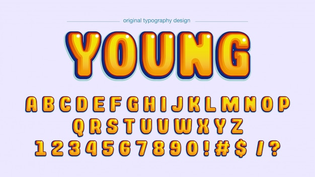 Tipografía bold yellow comics