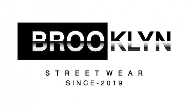 Tipografía brooklyn para camiseta estampada