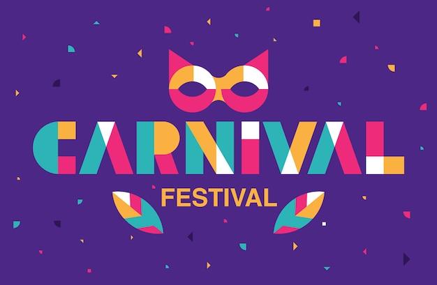 Tipografía de carnaval, evento popular en brasil.