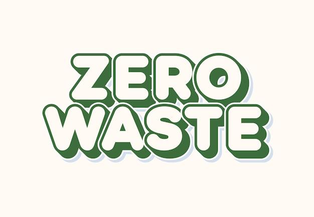 Tipografía cero residuos