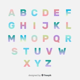 Tipografía colorida gradiente