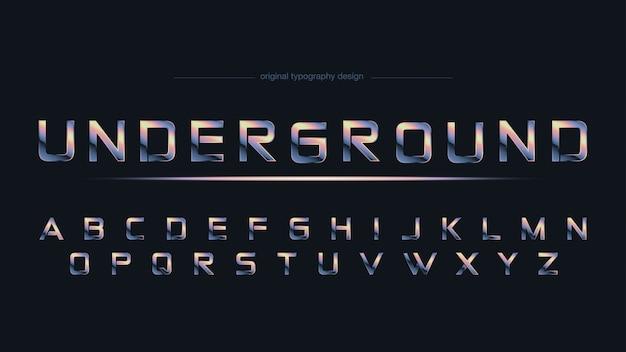 Tipografía deportiva abstracta de chrome