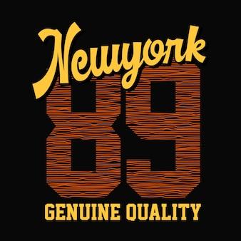 Tipografía de diseño de camiseta de vector de nueva york