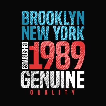 Tipografía de diseño gráfico vectorial de newyork