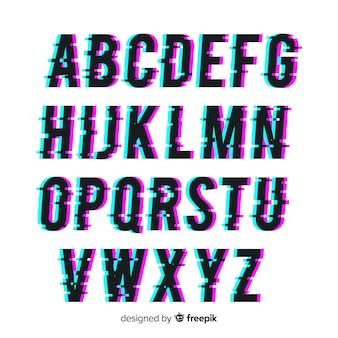 Tipografía con distorsión