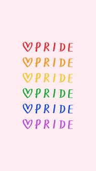 Tipografía de doodle de orgullo sobre un fondo rosa