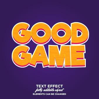 Tipografía de efecto de texto estilo juego