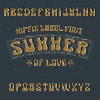 Tipografía de etiqueta vintage llamada summer.