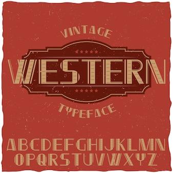 Tipografía de etiqueta vintage llamada whisky.