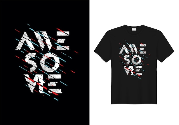 Tipografía impresionante camiseta diseño vectorial