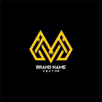Tipografía letra m diseño de logotipo