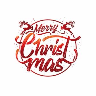 Tipografía de letras feliz navidad
