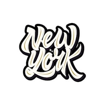 Tipografía de letras de nueva york