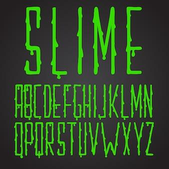 Tipografía de limo verde