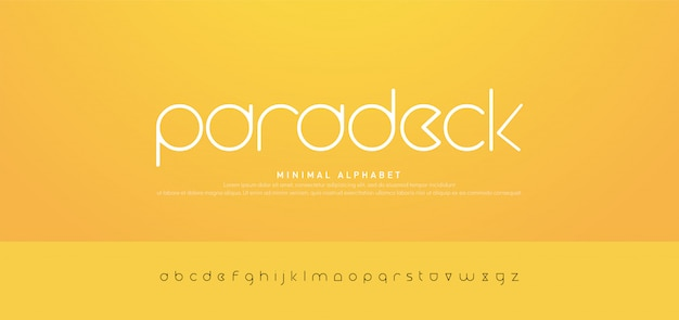 Tipografía minimalista moderno alfabeto urbano fuentes