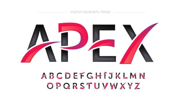Tipografía modern red curves