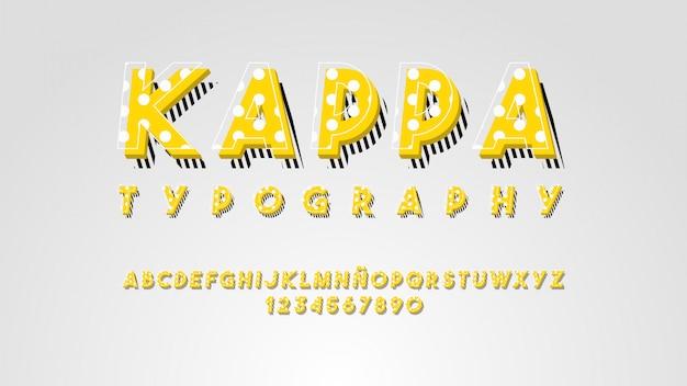 Tipografía moderna con efecto de líneas hermosas