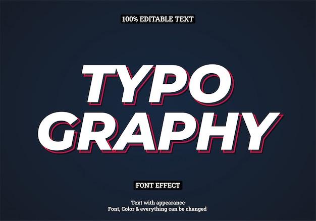 Tipografía moderna simple efecto de texto de sombra roja